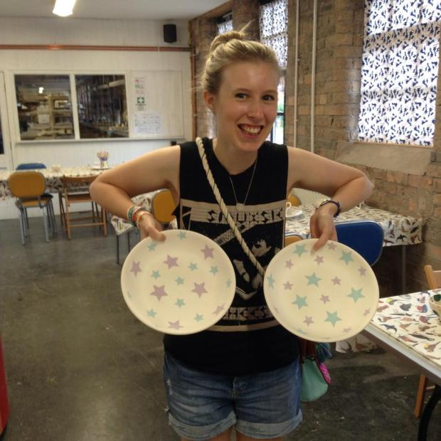 Pottery Decorating Studio at the Emma Bridgewater Factory, Stoke-on-Trent